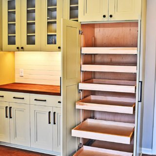 kitchen renovation open pantry